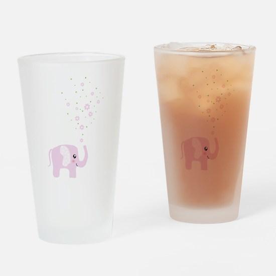 Cute elephant Drinking Glass
