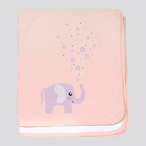 Cute elephant baby blanket