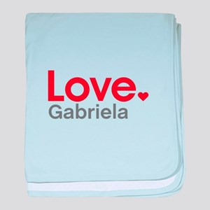 Love Gabriela baby blanket