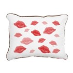 Kiss Original Rectangular Canvas Pillow