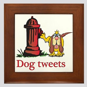 Dog tweets Framed Tile