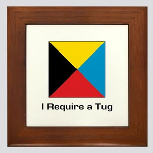 require tug Framed Tile