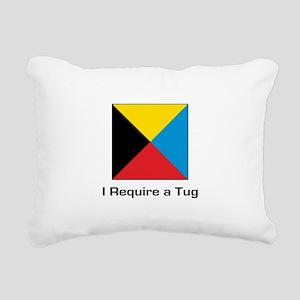 require tug Rectangular Canvas Pillow