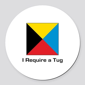require tug Round Car Magnet