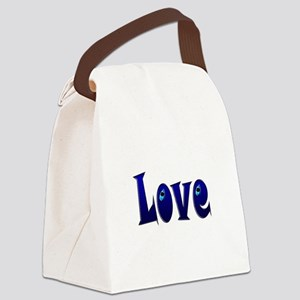 Adorable Love Canvas Lunch Bag