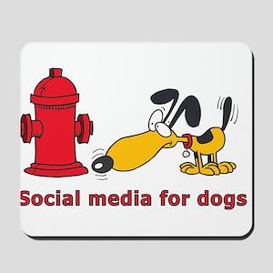 social media for dogs Mousepad