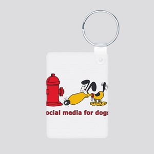 social media for dogs Aluminum Photo Keychain