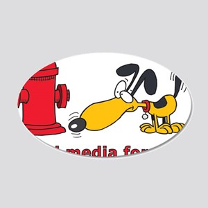 social media for dogs.png 20x12 Oval Wall Decal