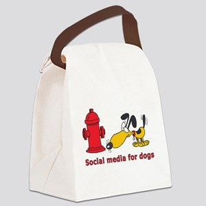 social media for dogs Canvas Lunch Bag
