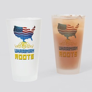 American Ukrainian Roots Drinking Glass