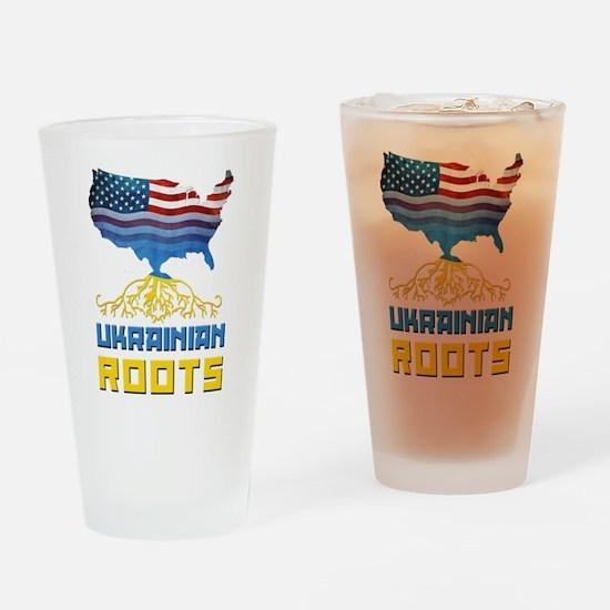 American Ukrainian Roots Drinking Glass