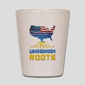 American Ukrainian Roots Shot Glass
