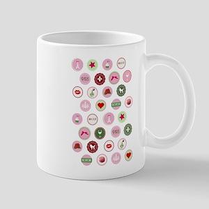 Girly Paris Pattern Mug