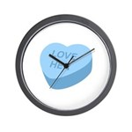 Love Her Candy Heart Wall Clock