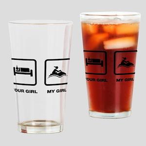 Jet Skiing Drinking Glass