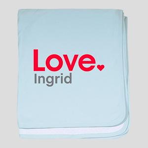 Love Ingrid baby blanket