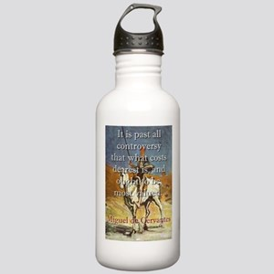 It Is Past All Controversy - Cervantes Water Bottl