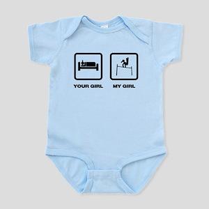 Gymnastic Horizontal Bar Infant Bodysuit