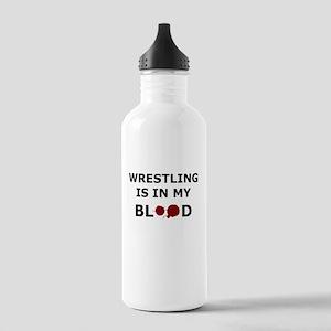 Wrestling is in my Blood Water Bottle