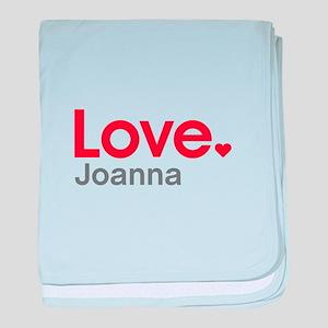 Love Joanna baby blanket