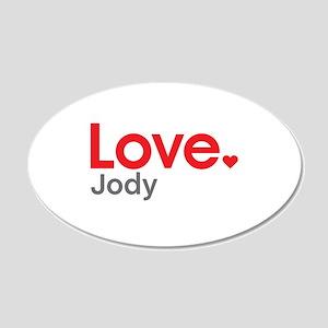 Love Jody Wall Decal