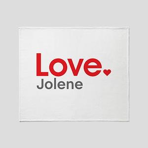 Love Jolene Throw Blanket