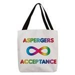 Aspergers Acceptance Polyester Tote Bag