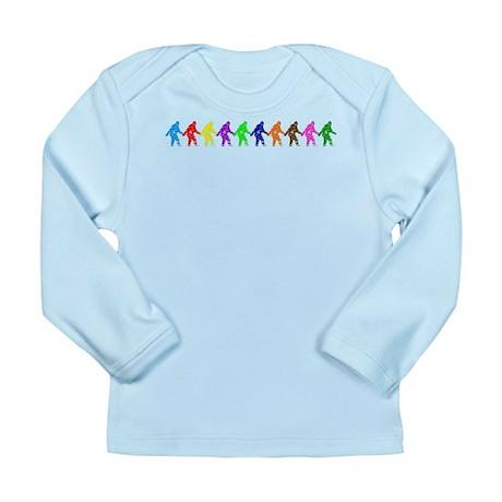 Ten Color Squatches Long Sleeve Infant T-Shirt