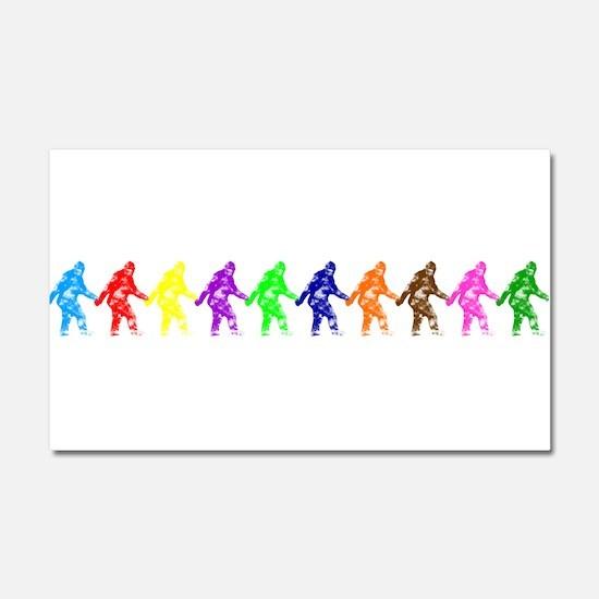 Ten Color Squatches Car Magnet 20 x 12