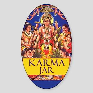 Tip Jar Oval Sticker Karma Jar