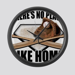 NoPlaceLikeHome copy Large Wall Clock