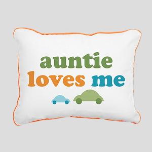 Auntie Loves Me Rectangular Canvas Pillow