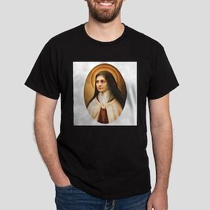 Saint Therese of Lisieux Dark T-Shirt