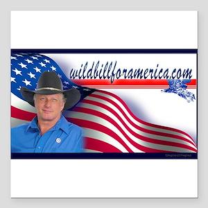"""Wild Bill for America Eagle Square Car Magnet 3"""" x"""