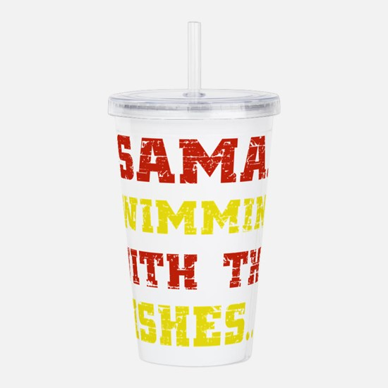 swimming-black.png Acrylic Double-wall Tumbler