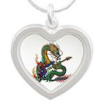 Ryuu Guitar 05 Silver Heart Necklace