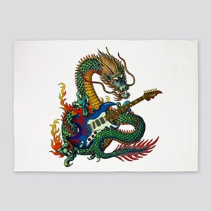Ryuu Guitar 05 5'x7'Area Rug