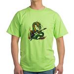 Ryuu Guitar 05 Green T-Shirt