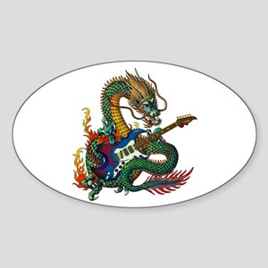 Ryuu Guitar 05 Sticker (Oval)