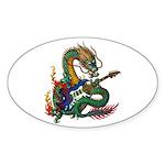 Ryuu Guitar 05 Sticker (Oval 10 pk)