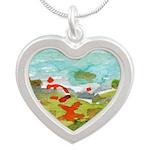 Window #4 Silver Heart Necklace