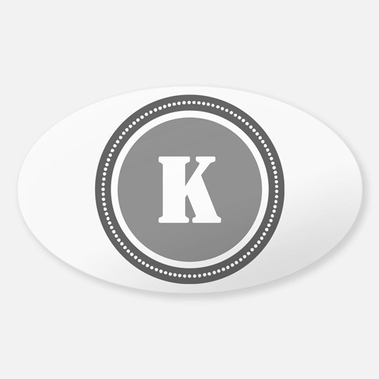 Gray Sticker (Oval)