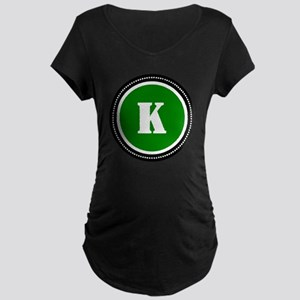 Green Maternity Dark T-Shirt
