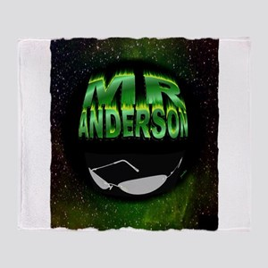 mr anderson art illustration Throw Blanket