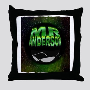 mr anderson art illustration Throw Pillow