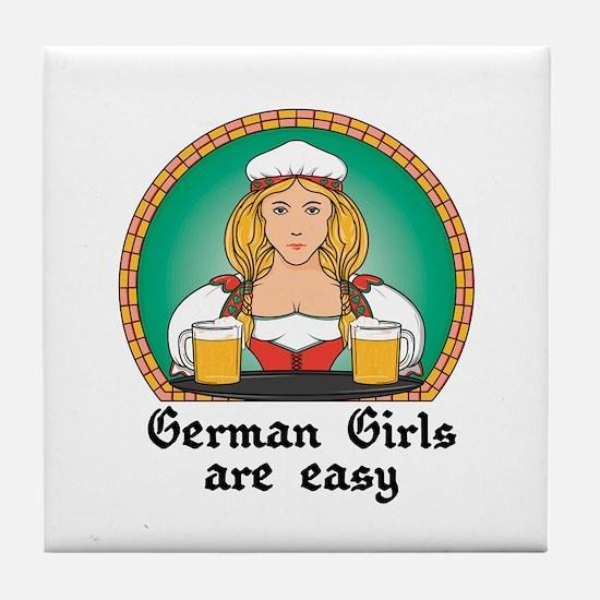 German Girls are Easy Tile Coaster