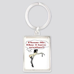 Please Sir, May I have another? Portrait Keychain