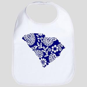 Blue Paisley Bib