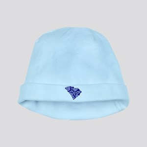 Blue Paisley baby hat
