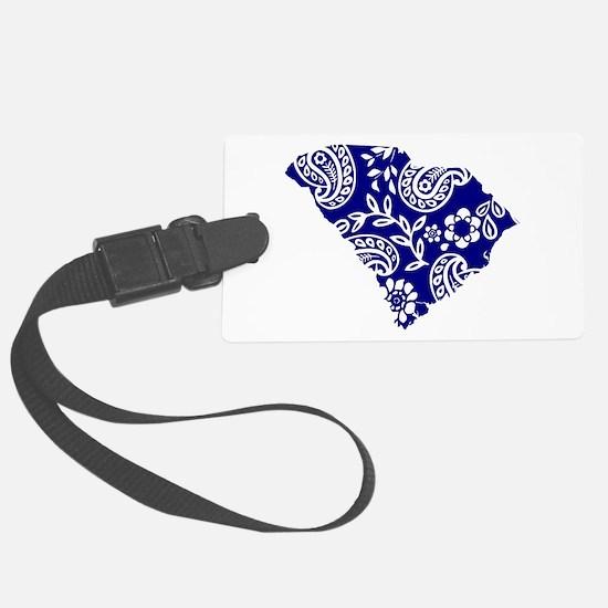 Blue Paisley Luggage Tag